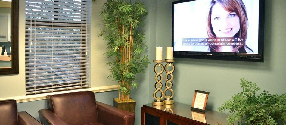 The waiting room of McMillan Sedation Dentistry, a dental office in Burke, VA