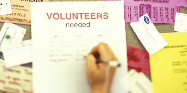 Sign up to volunteer and you'll help others and improve confidence.