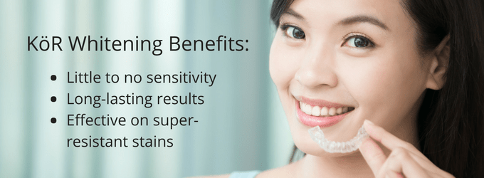 What are the benefits of the KöR Whitening System?